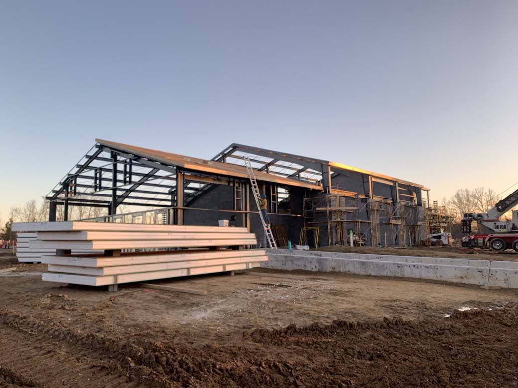 Large SIPs building under construction